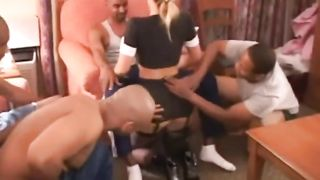 Hot Wife in Bachelor Party. she Takes on a Roomful of Guys.