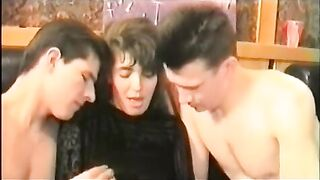 Amateur swinger drunk party in the saune. 2 hot wives get shared in orgy